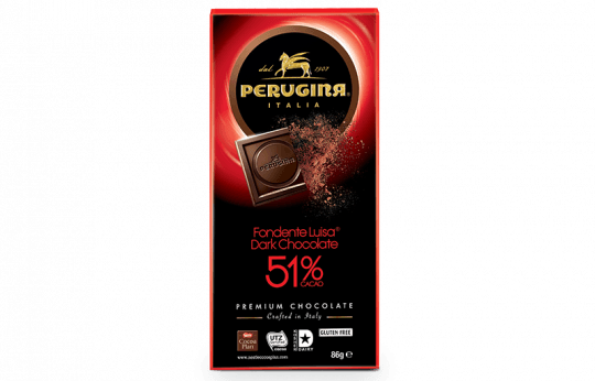 A tablet of dark chocolate with 51% cacao by Baci Perugina
