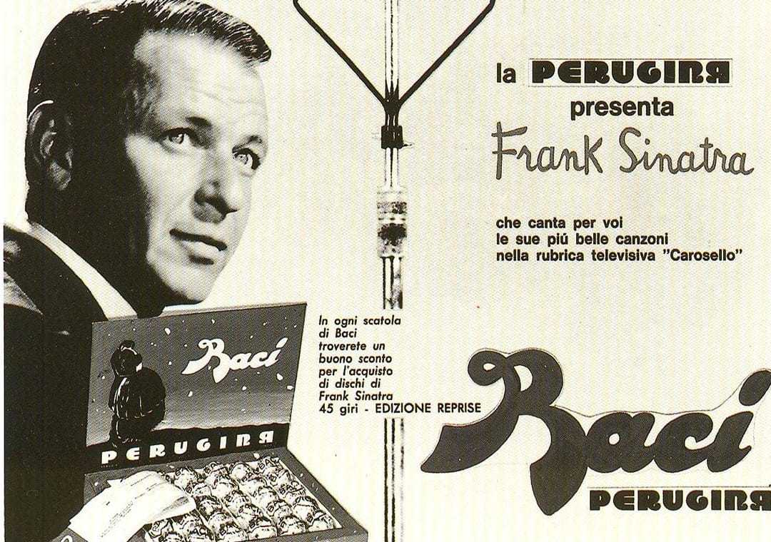 Baci Perugina tv advertising on Carosello with Frank Sinatra