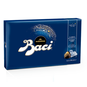 Maxi candy box of Baci Perugina original dark