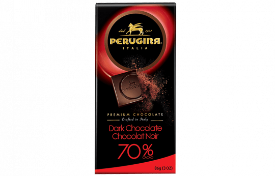 A tablet of dark chocolate with 70% cacao by Baci Perugina