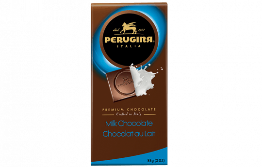 A tablet of milk chocolate by Perugina
