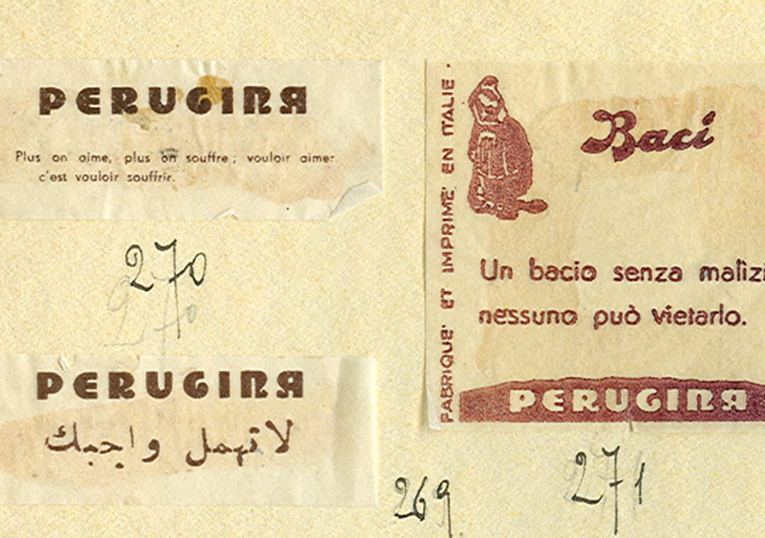 Baci love notes in the '30