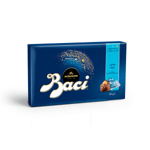 Candy box of Baci Perugina with milk chocolate