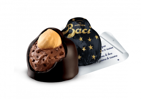 Baci Perugina Extra Dark internal view, wrapping and note