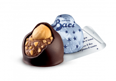 Baci Perugina Original Dark internal view, wrapping and note