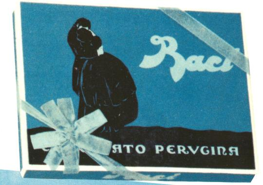 Baci Perugina old packaging with two lovers kissing