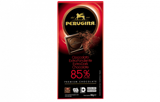 A tablet of dark chocolate with 85% cacao by Baci Perugina
