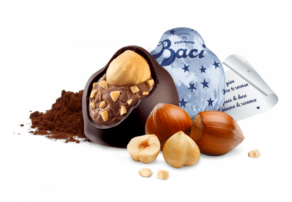 Ingredients and wrapper of Baci Original Dark
