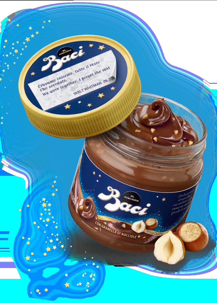 Crema Spalmabile al cioccolato con granella di nocciole Baci Perugina