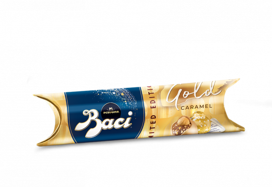 Baci® Perugina® Gold Limited Edition Tube with gold caramel chocolates